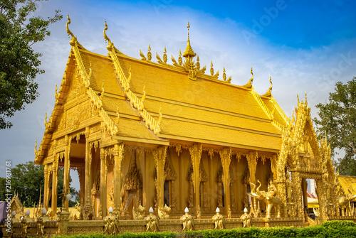 Fotobehang Bedehuis Architecture Thai Temple Public place