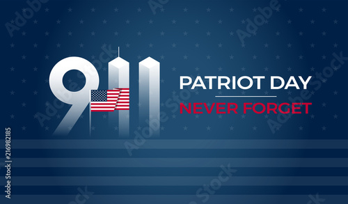 Cuadros en Lienzo Patriot Day September 11 9/11 USA banner - United States flag, 911 memorial and