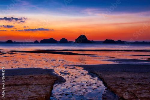 Foto op Plexiglas Asia land Sunset at Krabi, Thailand