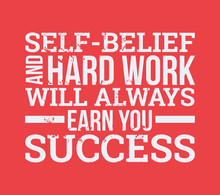 Self-belief And Hard Work Vect...