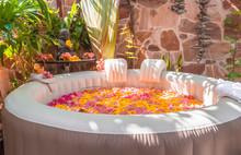 Spa Fleuri Pour Moment De Relaxation Et De Bien-être