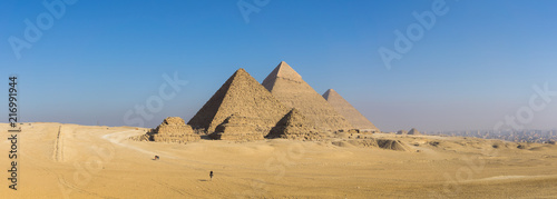 The Great Pyramid and Sphinx Canvas Print