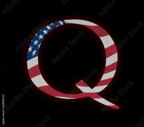 Q Anon deep state conspiracy concept Canvas Print