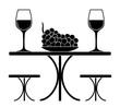 wine glasses and grape
