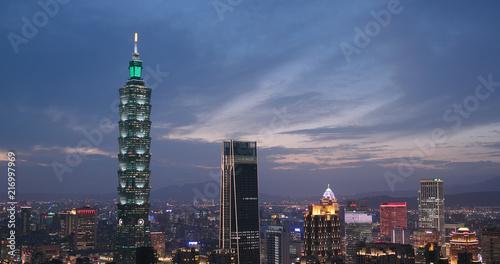 Taipei city at night Canvas Print