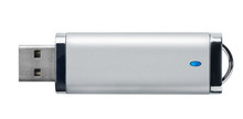Side View Of Silver USB Memory...