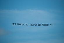 Naples Beach Peta Protest Banner