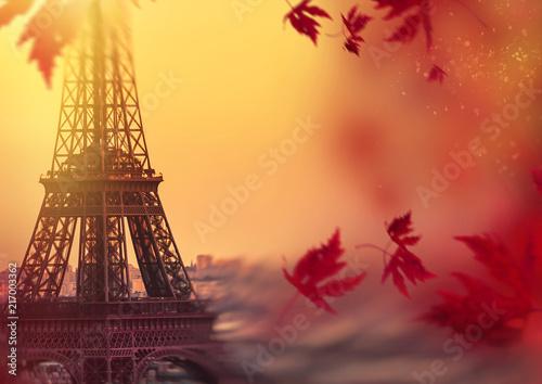 Autumn in Paris. Background