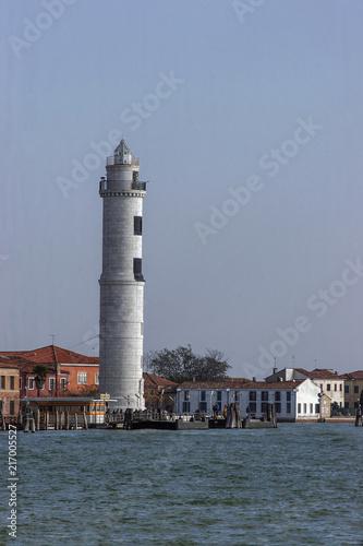 Foto op Aluminium Vuurtoren Leuchtturm von Santo Stefano