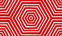 Wine Red Geometric Watercolor. Amusing Seamless Pattern. Hand Drawn Stripes. Brush Texture. Overwhel