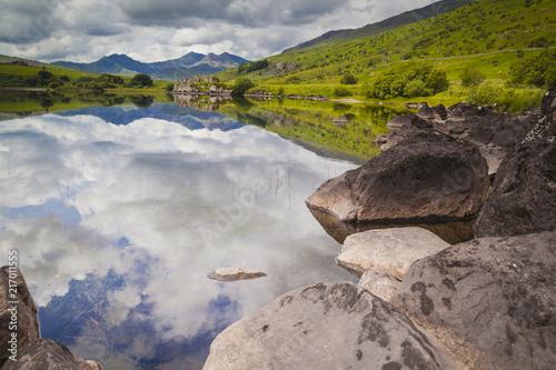 Blick auf Mount Snowdon im Snowdonia Nationalpark Fototapeta