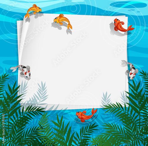 Valokuva A fish pond frame