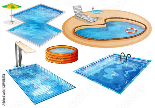 Recess Fitting Kids A set of swimming pool