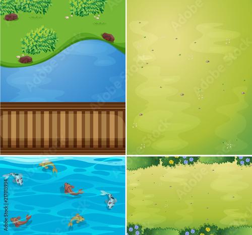 Poster Ciel Set of nature scenes