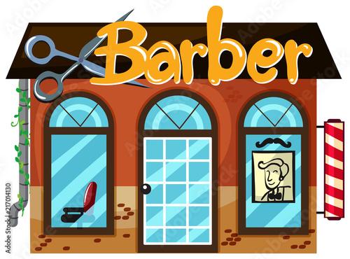Exterior of barber shop