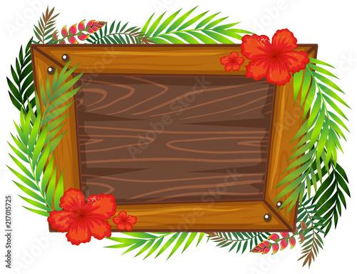 Fotobehang Kids A beautiful wooden frame
