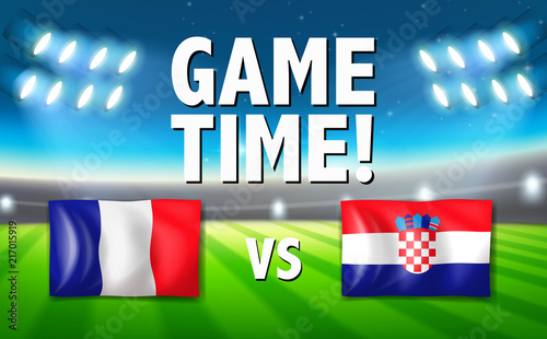 Fotobehang Kids Game time france vs croatia