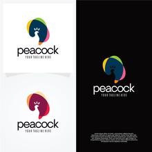 Peacock Logo Template Design Vector, Emblem, Design Concept, Creative Symbol, Icon