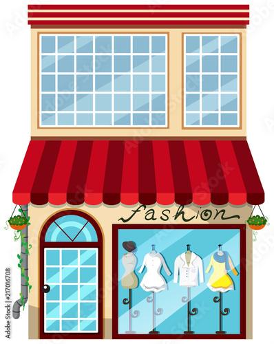 Fotobehang Kids A lady fashion store