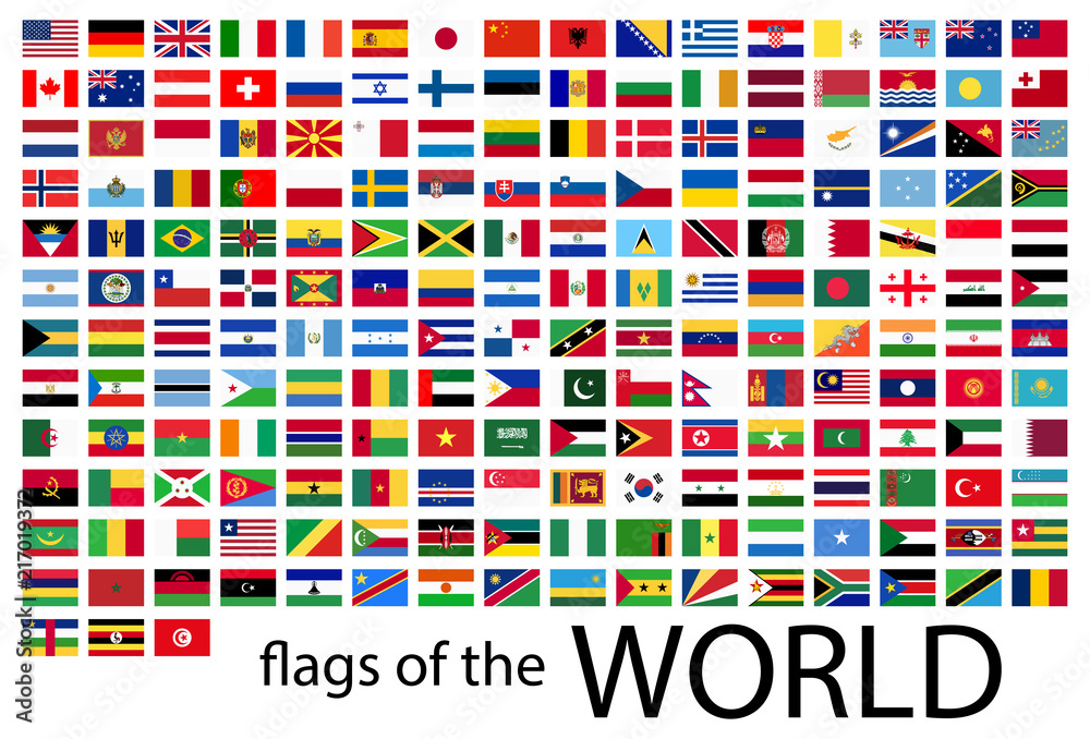 Fototapety, obrazy: all country flags of the world