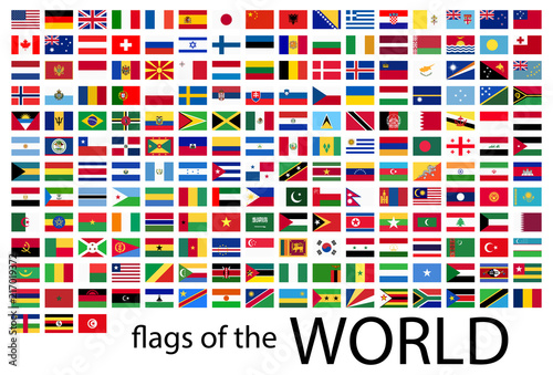 Fotografía  all country flags of the world