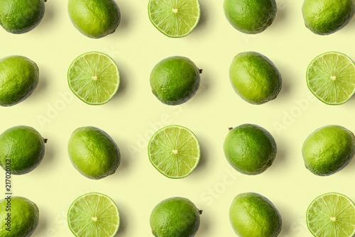 Obraz na płótnie Colorful fruit pattern of limes