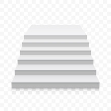White Stairs Vector White 3D R...