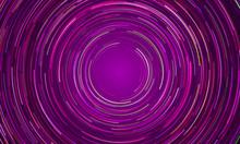 Circular Vortex Purple Light Motion Background
