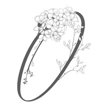 Vector Hand Drawn Floral O Monogram And Logo