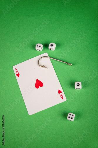Gambling addiction concept плакат