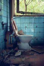 Old Broken Toilet