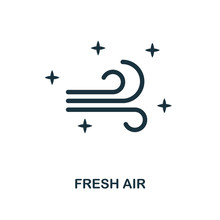 Fresh Air Icon. Line Style Ico...