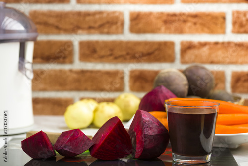 juice from red beets Wallpaper Mural