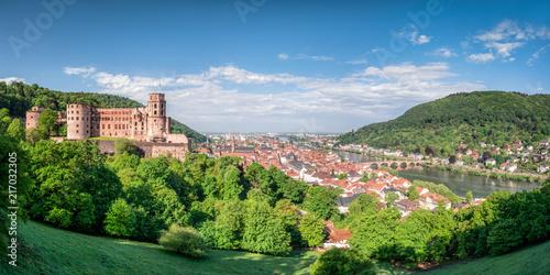 Foto op Plexiglas Europa Heidelberg am Neckar mit historischer Altstadt und Schloss