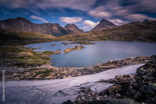 Foto op Plexiglas Arctica Wild mountain landscape in the Jotunheimen National Park, Norway