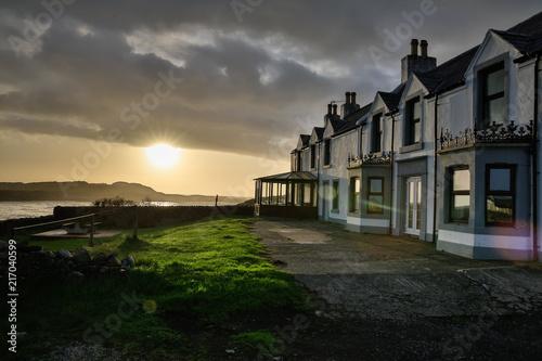 Obraz na plátně Small village Portnahaven at island Islay, Scotland