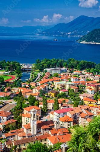 Obraz na plátně  Maccagno am Lago Maggiore, Lombardei, Italien