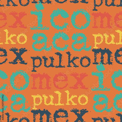 Fotografija  Acapulco, mexico seamless pattern