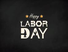 Happy Labor Day Banner. Design Template. Vector Illustration.