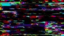 Glitch Effect. Computer Screen...