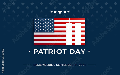 Fotografia  Patriot Day background - 9/11 September 11, 2001 - 911 Memorial background