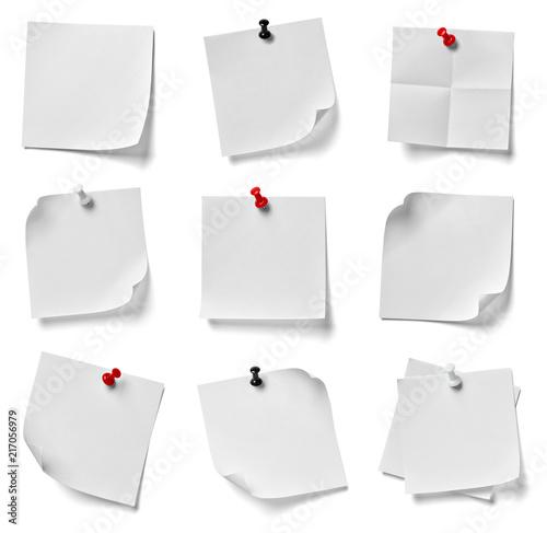 Fotografie, Obraz  note paper push pin message