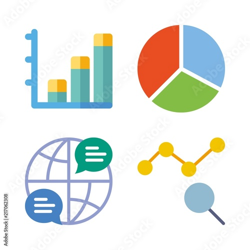 Finance Vector Icons Set Internet Bar Chart Pie Chart And Line