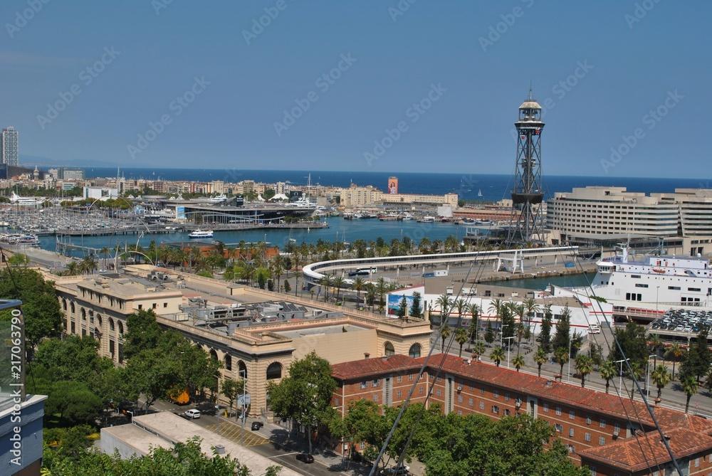 Fototapeta Port w Barcelonie