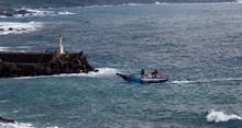Small Fishing Boat Returning T...