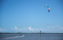 Unknown Kite Boarder Rides Out...