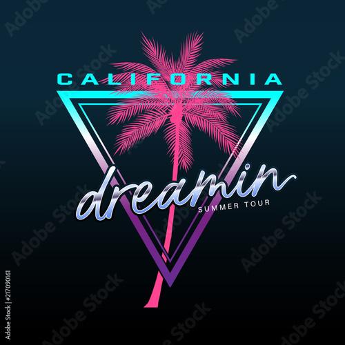Fotografia  California slogan, Summer beach typography, tee shirt graphic, slogan, printed design