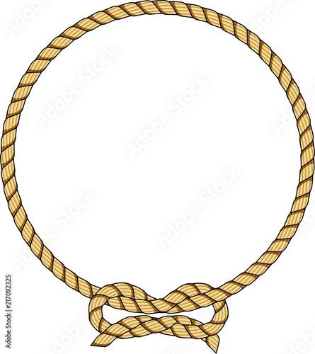 Photographie Círculo de corda com laço
