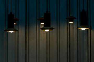 Set of modern ceiling lamp interior lighting bulbs decoration contemporary