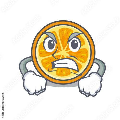 Angry orange mascot cartoon style Slika na platnu